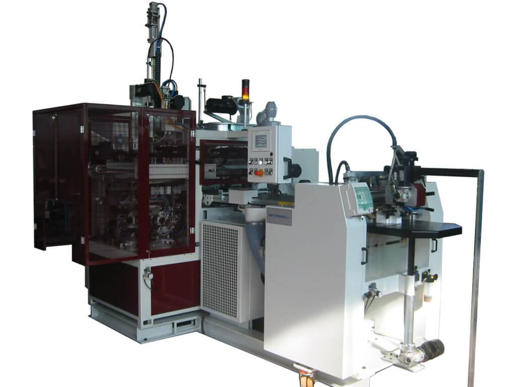 Linea di fabbricazione EP100 per scatole rivestite. Modello utile per la realizzazione di scatole realizzate senza termosaldante