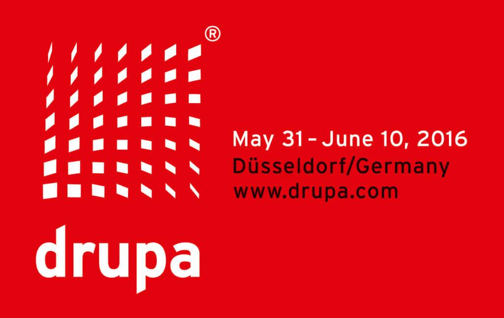 Logo della Fiera Drupa di Dusseldorf del 2016