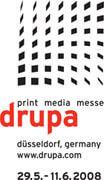 Logo della Fiera Drupa a Dusseldorf nel 2008, con la partecipazione di Europrogetti